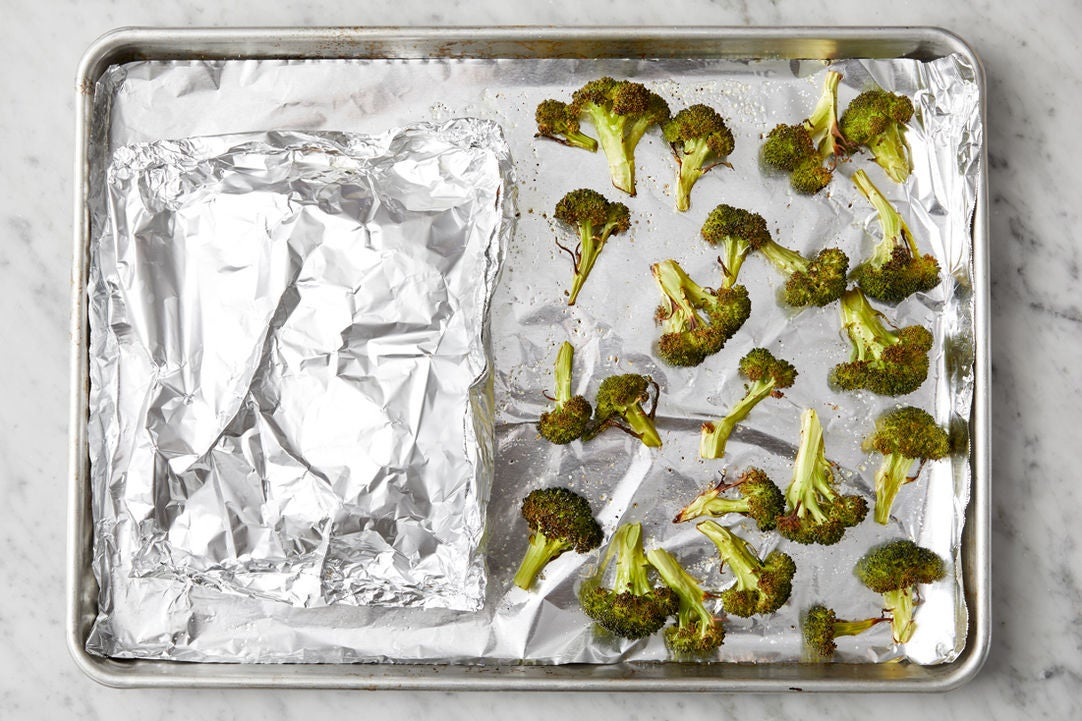 Bake the chicken & broccoli: