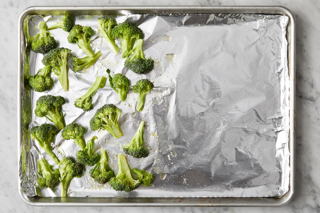 Prepare & season the broccoli: