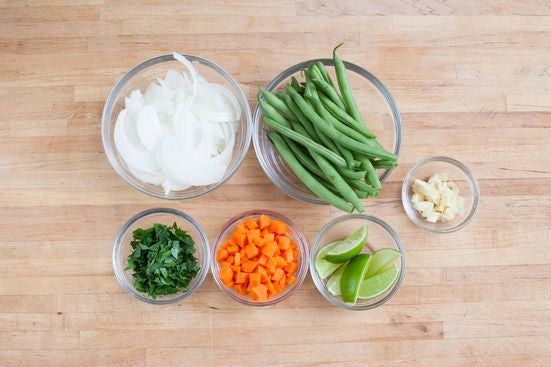 Prep the ingredients: