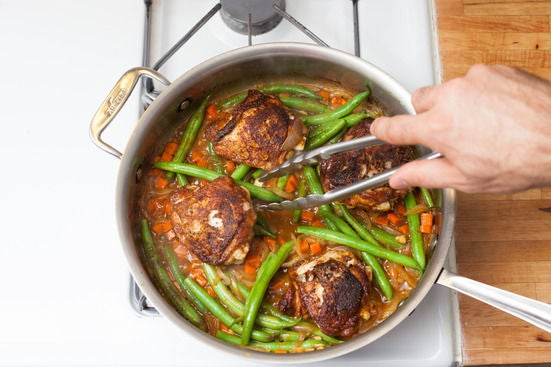 Braise the chicken: