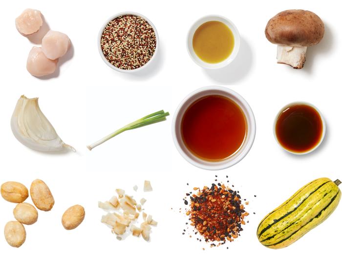 Honey-Yuzu Salmon with Mushroom & Squash Quinoa