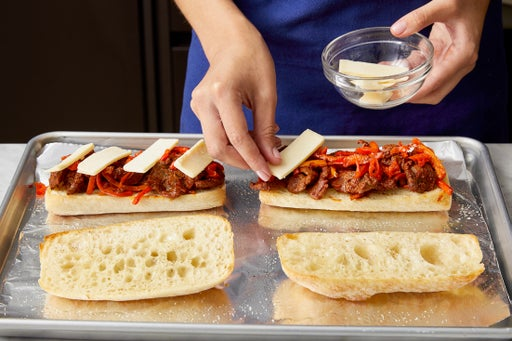 Assemble & bake the sandwiches: