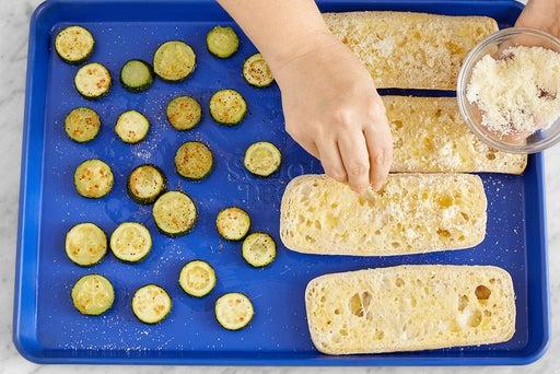 Finish the zucchini & make the garlic bread