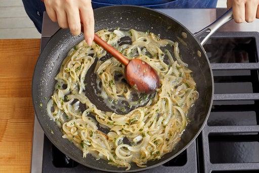 Make the creamed onion