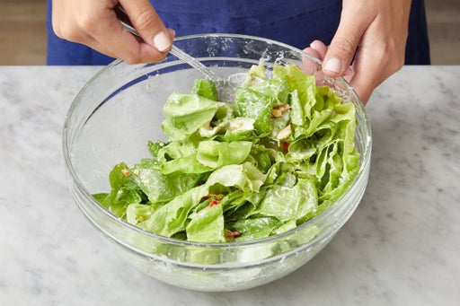 Finish the salad & serve your dish
