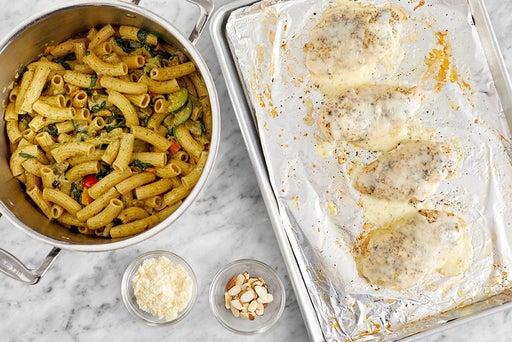 Finish & serve the chicken pasta