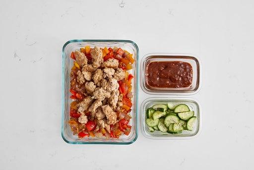 Assemble & Store the Sambal-Peanut Turkey Lettuce Wraps