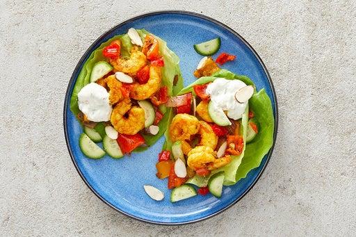 Finish & Serve the Shrimp & Veggie Lettuce Cups