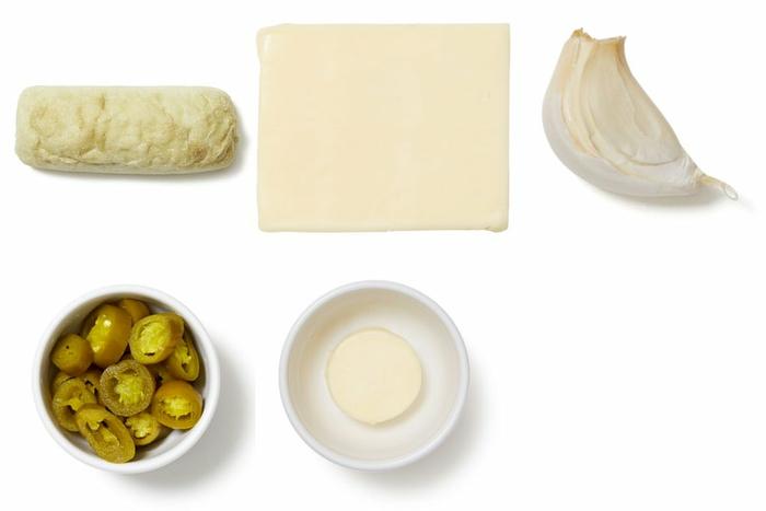Jalapeño Garlic Bread with Cheddar Cheese