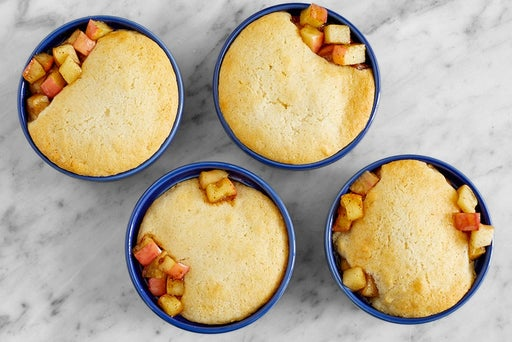 Bake the cobbler & serve your dish