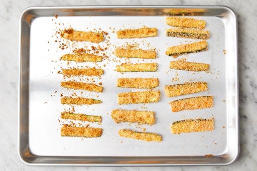 Bake the zucchini fries: