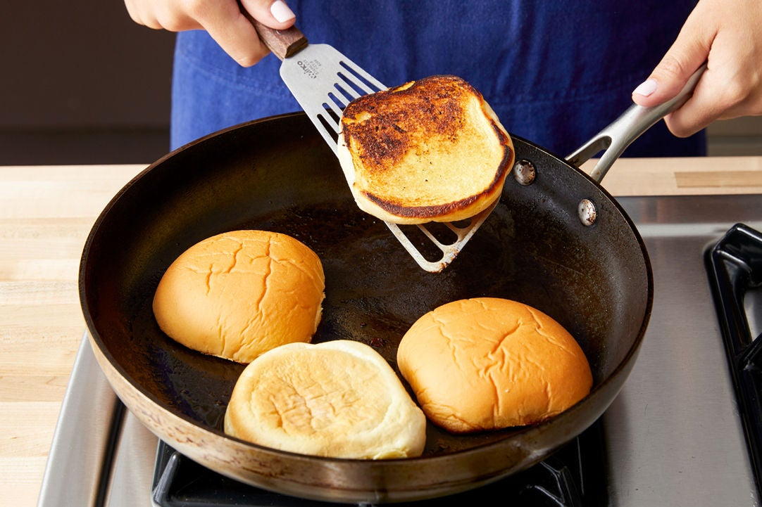 Toast the buns & serve your dish: