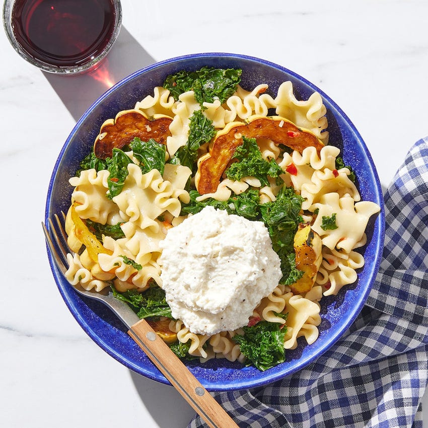 Calabrian Pasta & Squash with Ricotta Cheese
