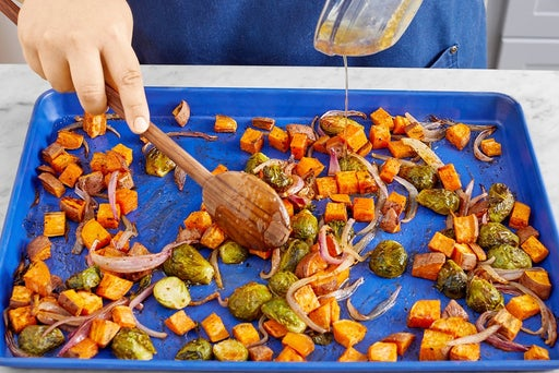 Finish the vegetables & serve your dish