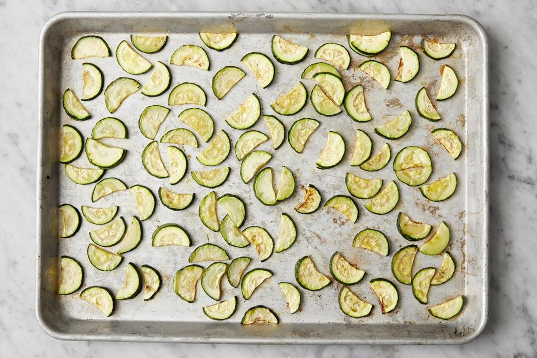 Roast the zucchini: