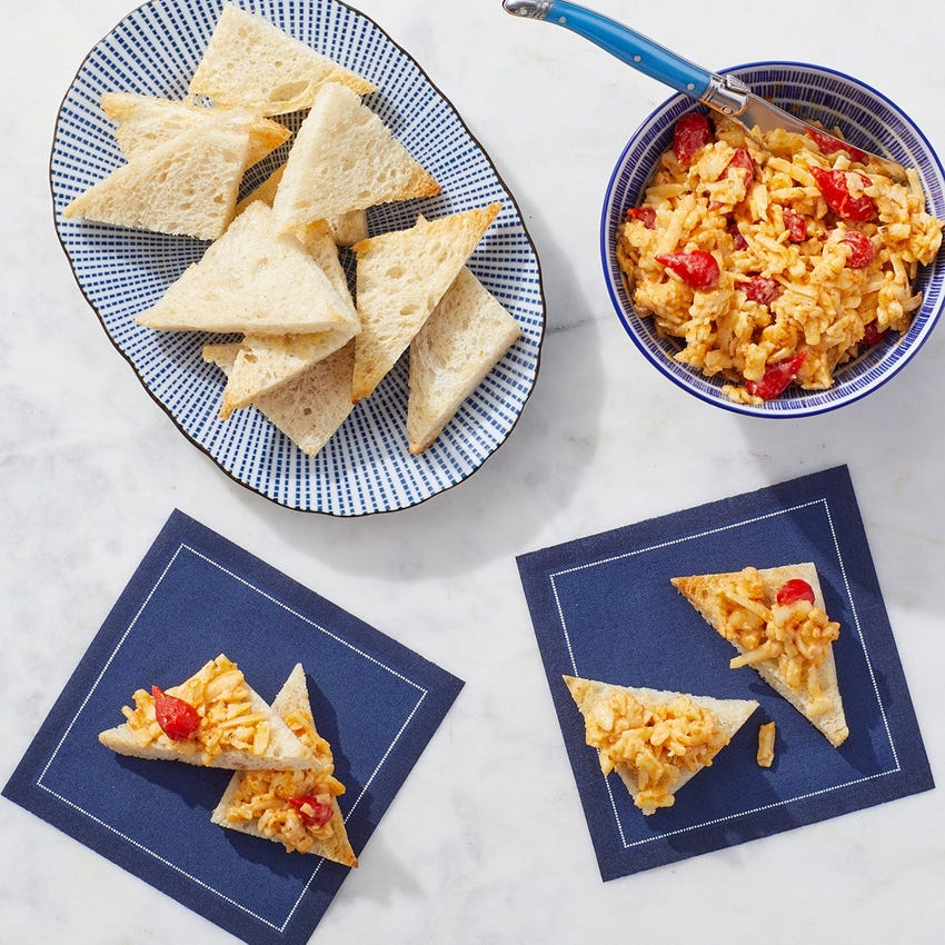 Pimento Cheese Toasts with Cajun-Style Spices