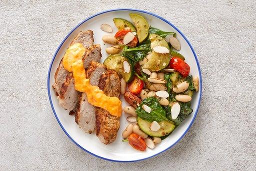 Finish & Serve the Pork & Salsa Verde Vegetables