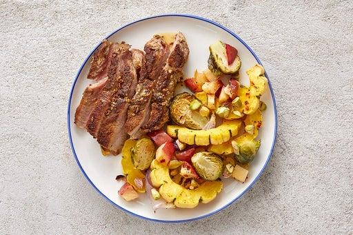 Finish & Serve the Maple-Dijon Pork