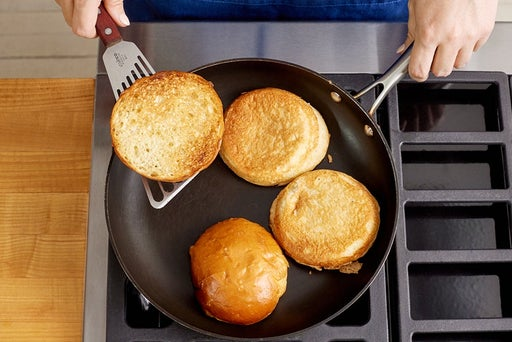 Toast the buns & serve your dish