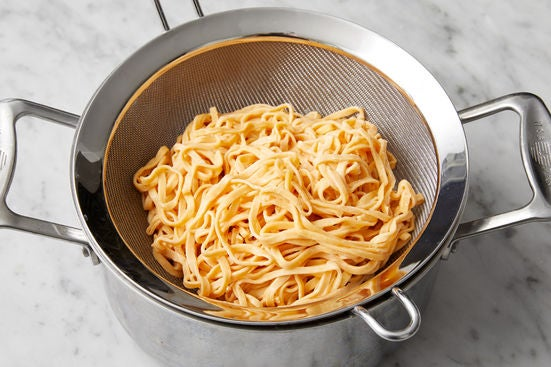 Cook the noodles: