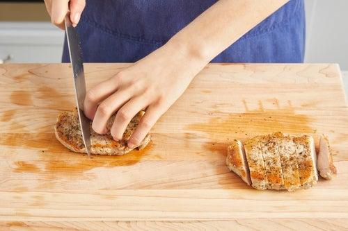 Slice the pork & serve your dish