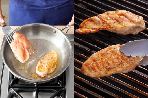 Cook the chicken: