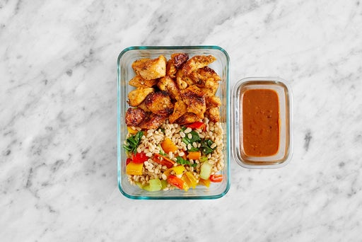 Assemble & Store the Spicy Tahini Chicken