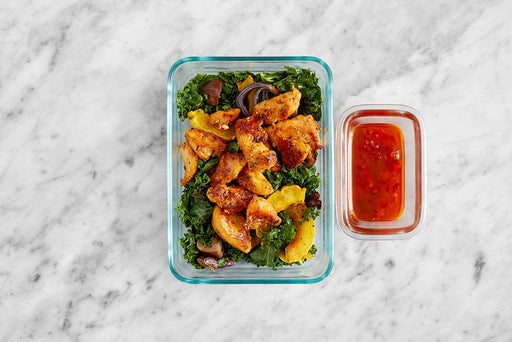 Assemble & Store the Chicken & Kale Salad