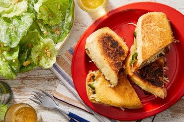 Spicy Poblano & Enoki Mushroom Tortas with Chipotle Mayo