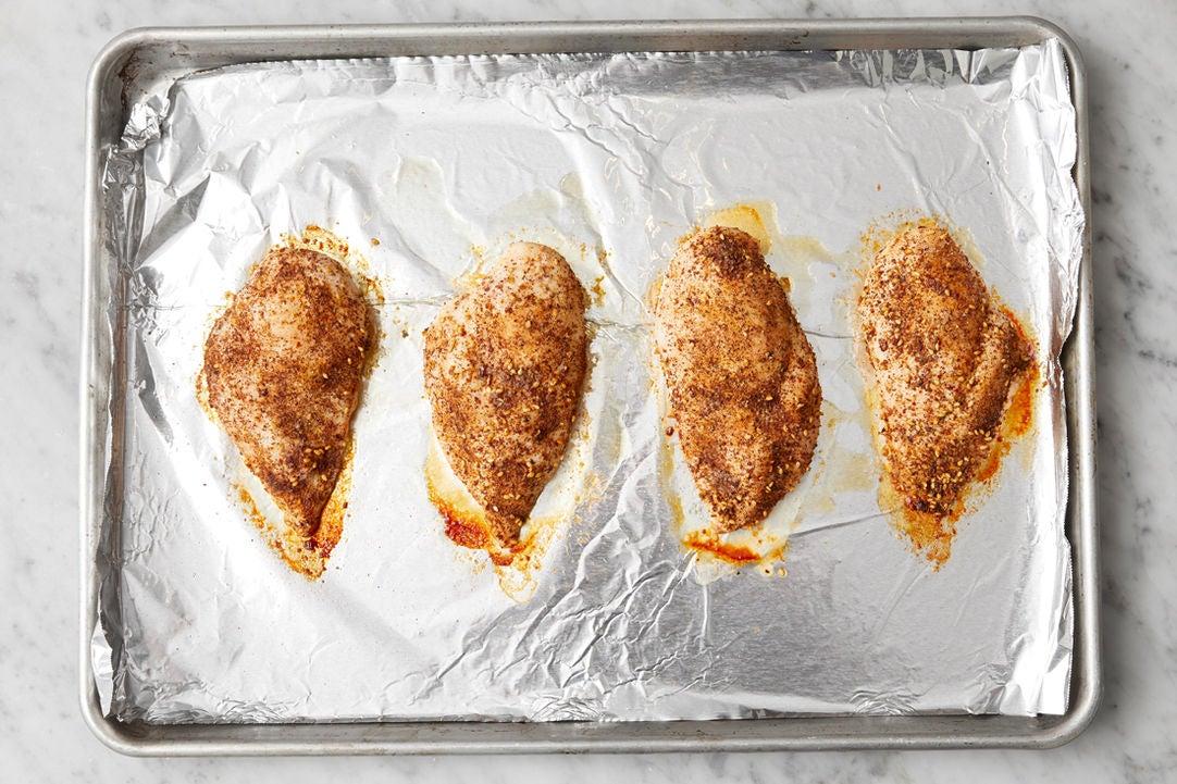 Roast the chicken: