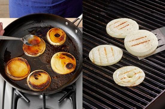 Cook & glaze the onion: