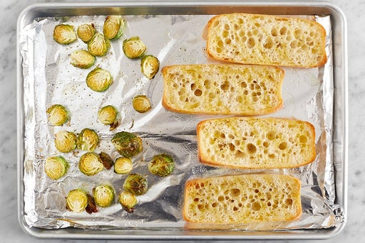 Toast the baguettes & serve your dish