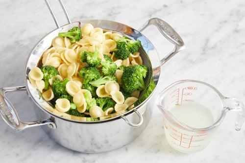 Cook the pasta & broccoli