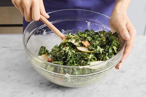 Make the salad & serve your dish