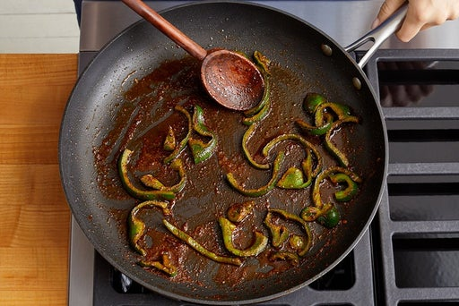 Cook the peppers & make the filling