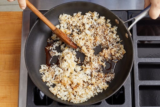 Make the fried rice & serve your dish