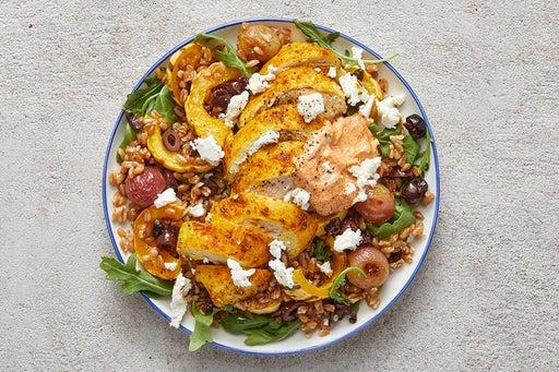 Finish & Serve the Shawarma Chicken & Farro Salad