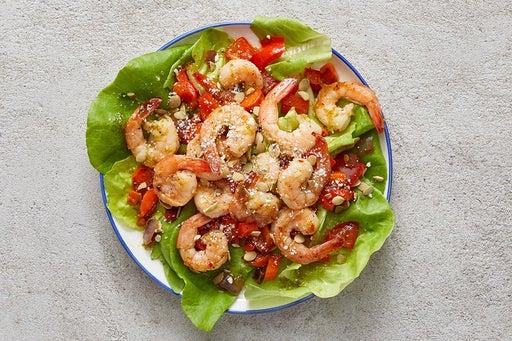 Finish & Serve the Honey-Lime Shrimp & Vegetables