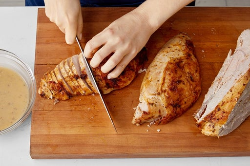 Carve & slice the turkey