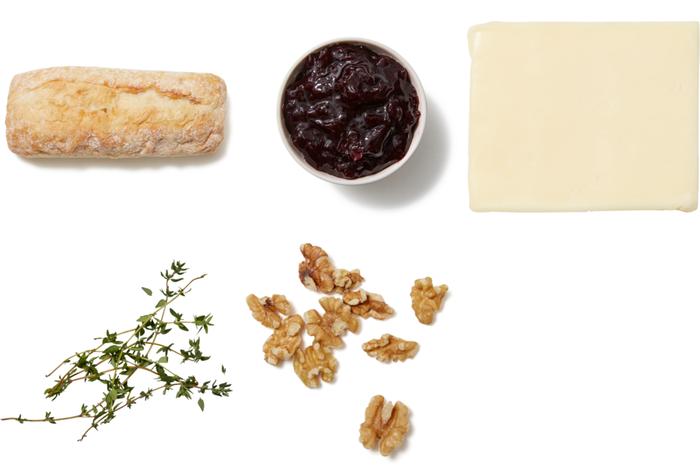 Sour Cherry & Cheddar Crostini with Thyme & Walnuts