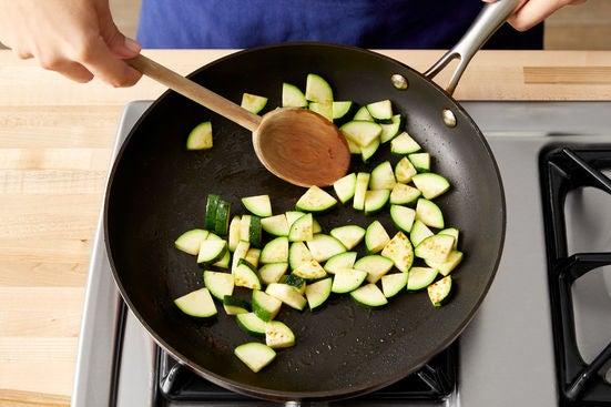 Cook the zucchini: