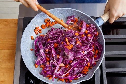 Cook the vegetables