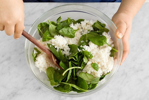 Make the spinach rice