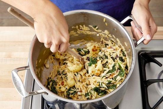 Make the pasta salad & serve your dish: