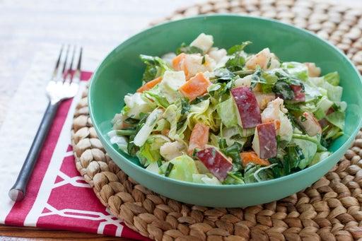 Chopped Shrimp Salad with Watercress, Honeycrisp Apple & Sweet Potato