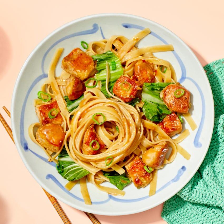 Chrissy Teigen's Sesame Chicken Noodles with Bok Choy