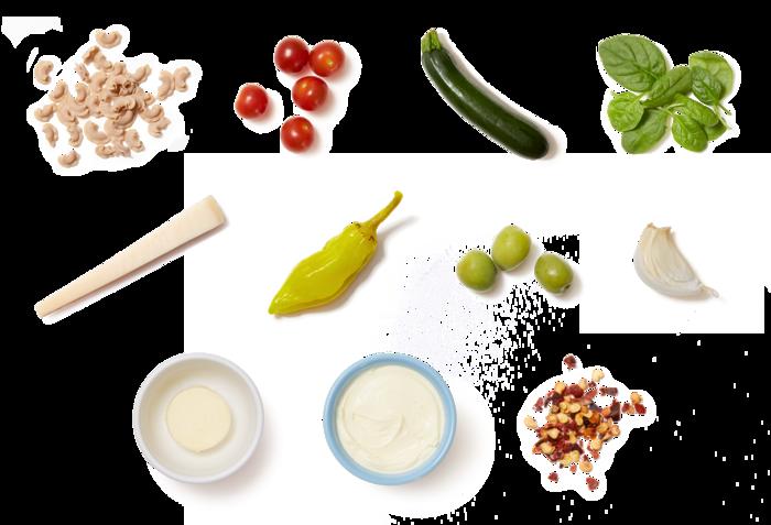 Pasta Primavera with Grana Padano Cheese