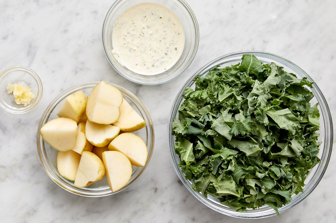Prepare the ingredients & make the aioli: