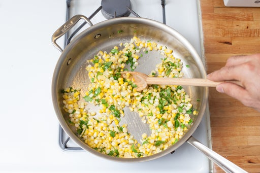 Cook the corn: