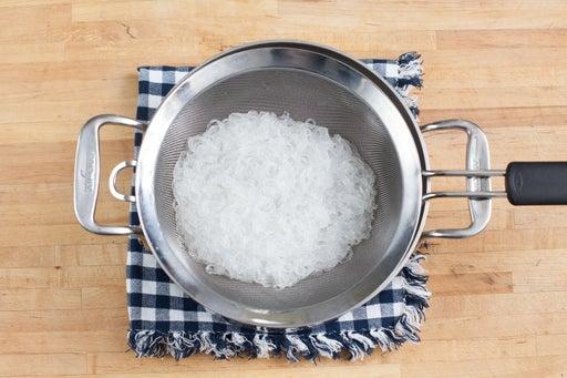 Cook the cellophane noodles: